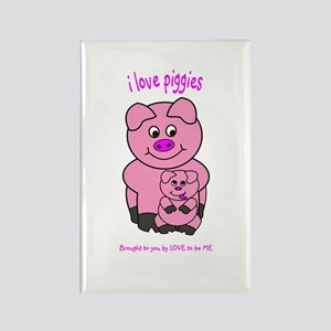 PIG - LOVE TO BE ME Rectangle Magnet